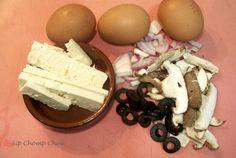Greek style egg white omelette :) Egg White Omelette, Egg Whites, My Recipes, Stuffed Mushrooms, Greek, Eggs, Vegetables, Breakfast, Food