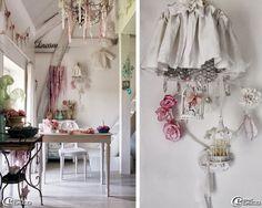 Tendance d coration int rieure originale ambiance romantique secretaire blanc - Decoration shabby en ligne ...