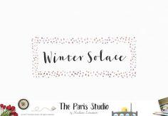 Watercolor Frame Logo Design for artisan boutique branding, e-commerce website logo, wordpress blog logo, boutique logo, photography branding, wedding logo, website branding design.