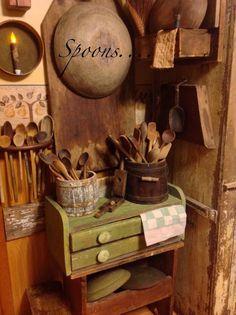 Primitive Spoon Collection