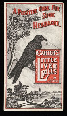 Advertisement for 'Carter's Little Liver Pills' - Wellcome Collection