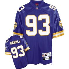 Mitchell and Ness Minnesota Vikings 93 John Randle Purple Stitched Throwback NFL Jersey:$21