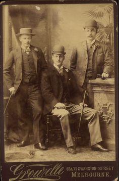 Cabinet photograph, 1890-1900, Melbourne, Australia.