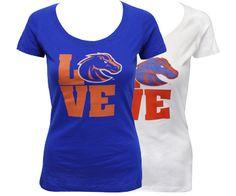 Bronco Love T-Shirt! - T Ladies Love Scoop Custom | Boise State Bronco Shop