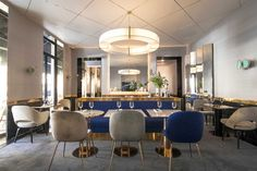 Dining Room - Brass Accents - Paris Restaurant - Hospitality Design - Glam Style
