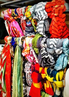 Scarves, scarves, and more scarves! [Spotted in Scheels] #fashion