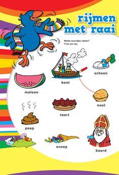 rijmen met kleuters Toddler Worksheets, Preschool Activities, Language Activities, 7 Year Olds, Learning Resources, Pre School, Little Ones, Smurfs, Children