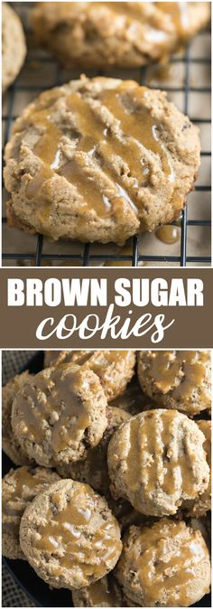 Brown Sugar Cookies - Try something different this holiday season with this easy recipe! These cookies went fast at my house. Cookie Desserts, Easy Desserts, Cookie Recipes, Delicious Desserts, Dessert Recipes, Cookie Tray, Cookie Ideas, Cookbook Recipes, Chocolate Desserts