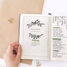 """1,614 Likes, 45 Comments - Emma (bullet journal) (@thestudybujo) on Instagram: """"My November cover page! ________________________________ Codes! use STUDYBUJO for 15% off…"""""""