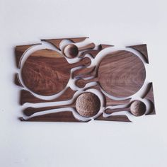 a single wood panel optimized for spoons and cutting boards