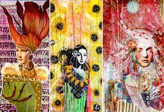 Anahata Katkin, artist behind Papaya Art Art Journal Pages, Art Journaling, Mixed Media Collage, Collage Art, Collages, Papaya Art, Wallpaper Samples, Panel Art, Colorful Paintings