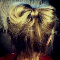 a bow made out of HAIR!!!!!! <3 : )