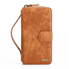 Multifunction Wallet Leather For iPhone Zipper Purse Phone Case Lady Style Handbag Cover