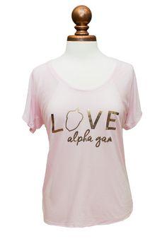 Love Alpha Gam Tee – Alpha Gam Boutique
