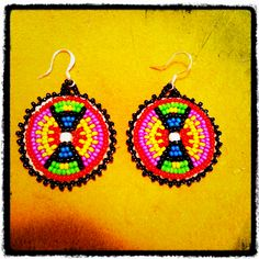 Beaded Earrings made by Tracey Bert