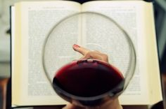 wine and books.