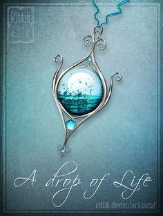 Amulet+-+A+drop+of+Life+by+Rittik.deviantart.com+on+@DeviantArt