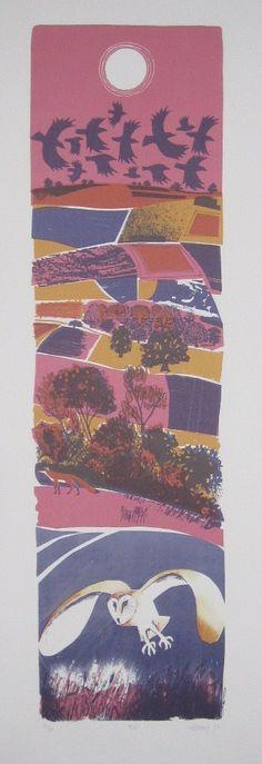 Owl by Carry Akroyd Linocut Prints, Art Prints, Bird Migration, Wildlife Art, Print Artist, Landscape Art, Art Images, Printmaking, Graphic Art