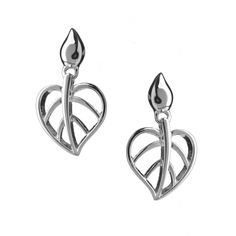 Lotus Heart Drop Earrings | NEW - Lotus  | Jewellery | Rachel Galley Jewellery Design