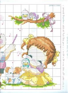 Part 05 - Children (total 6 parts) Free Cross Stitch Charts, Cross Stitch Pillow, Cross Stitch For Kids, Cute Cross Stitch, Cross Stitch Patterns, Embroidery Stitches, Embroidery Patterns, Knitted Flowers, Kids Patterns