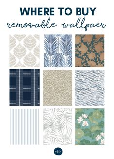 Where to Buy Removable Wallpaper - Tips for Rental Living Best Blogs, Beige Walls, Craft Tutorials, Decorating Tips, Home Projects, Home Accessories, How To Remove, Diy Crafts, Wallpaper