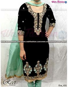 Give yourself a stylish & designer look with this Captivating Black Hand Embroidered Punjabi Suit. Embellished with Embroidery work and lace work. Available with matching bottom & dupatta. It will make you noticable in special gathering. You can design this suit in any color combination or on any fabric. For more details whatsapp us on +919915178418
