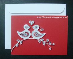 Quilled Wedding card.