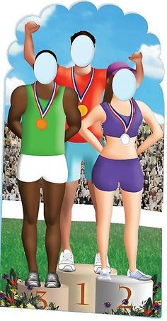 Olympics Podium Stand-in Lifesize Cardboard Cutout / Standee (Olympic Games)