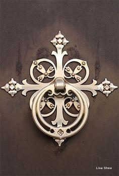 """Door knocker for the Palau del Consell, Mallorca, Spain."" Digital Photography by Lisa Shea"