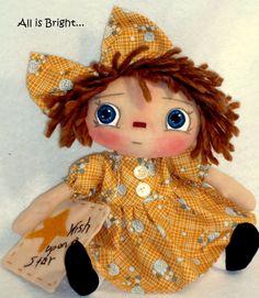 Wish Upon a Star Raggedy Doll by Allisbright on Etsy, $32.00