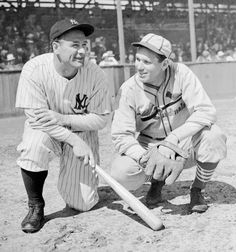 Lou Gehrig, New York Yankees, and Dizzy Dean, St. Louis Cardinals