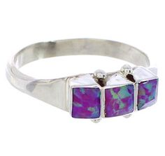Pink Opal Inlay Genuine Sterling Silver Native American Ring Size 7 BW77680 http://www.silvertribe.com