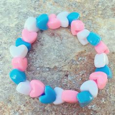 Hey, I found this really awesome Etsy listing at https://www.etsy.com/listing/384655494/trans-flag-heart-bracelet