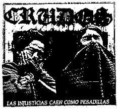 Los Crudos ''Injustias'' Patch $1.45 #punk #music #punkpatches #clothing www.drstrange.com