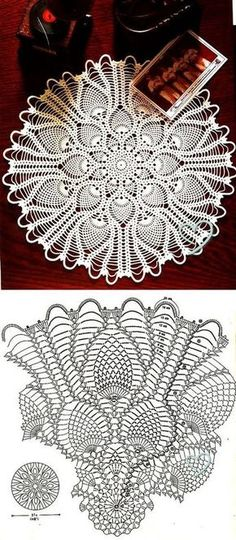 With more than 100 free crochet doily patterns to make you will never be bored! Traditional lace doilies, round doilies, oval doilies and more! Free Crochet Doily Patterns, Crochet Coaster Pattern, Crochet Doily Diagram, Crochet Chart, Thread Crochet, Filet Crochet, Crochet Motif, Crochet Lace, Tatting Patterns