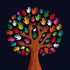 Multi social solidarity tree hands Clipart is part of Crafts for kids - Colorful diversity tree hands illustration Vector illustration layered for easy manipulation and custom coloring Kids Crafts, Preschool Crafts, Fall Crafts, Diy And Crafts, Arts And Crafts, Kids Diy, Handmade Crafts, Hand Illustration, School Decorations