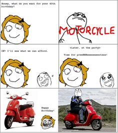 MOTORCYCLE - troll face comics