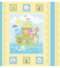 Noahs ark quilted material