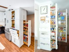 Make the most of your kitchen space, from floor to ceiling. Find house plans with extra storage at http://www.dongardner.com/House_Plans_Extra_Storage.aspx. #Kitchen #Storage #Home