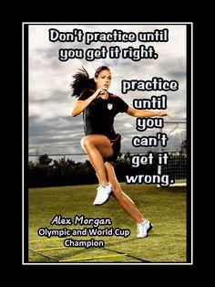 Soccer Motivation Alex Morgan Photo Quote Poster Wall by ArleyArt