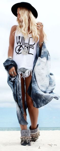 Fabulous Boho Chic Style Beach Look 2015 Trending Fashion Clothes.