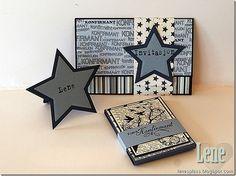 card star stars card with stars communion - kort indbydelse, gave, bordkort konfirmasjon, gutt Decoration Table, Masculine Cards, Mini Albums, Ark, Projects To Try, Inspiration, Hobby, Big Shot, Confirmation
