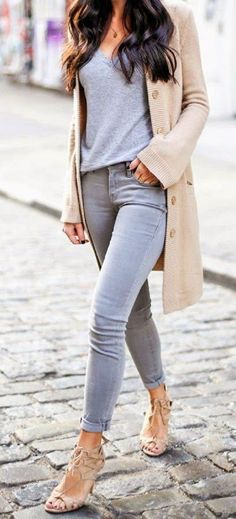 H&M Skinny Washed Grey Stretch Jeans In 3 Leg Lengths