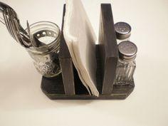 Primitive Rustic Napkin Holder/Desk by midwesterntreasures on Etsy
