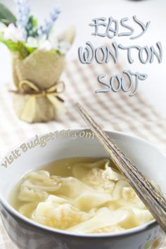 Wonton soup is a classic Chinese Dumpling soup loaded with the flavors of shrimp,pork, ginger and seasonings in a light broth. This inexpensive dish is a great way to use up leftover pork! (Click for recipe)
