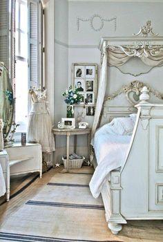 ❥ beautiful white bedroom