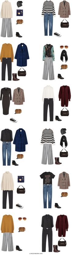 What to Pack for Glasgow, Scotland Packing Light List Outfit Options 13-24 #packinglight #packinglist #travellight #travel #livelovesara #capsule