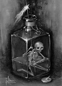 The Art Portfolio of Jason Limon. Arte Horror, Horror Art, Illustrations Pop, Fashion Illustrations, Surrealism Drawing, Pop Surrealism, Dark Art Paintings, Skeleton Art, Macabre Art