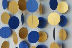 Royal Blue and Gold Graduation Decoration, Blue Gold Graduation Party, Blue Gold…