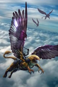 m Paladin Plate Armor Sword Griffin riders The Temple of the Corrilians ride these mounts as aerial dog fighters bring on the gas dragons. Fantasy Dragon, Fantasy Warrior, High Fantasy, Fantasy World, Creature Concept, Fantasy Inspiration, Dojo, Fantasy Artwork, Monsters
